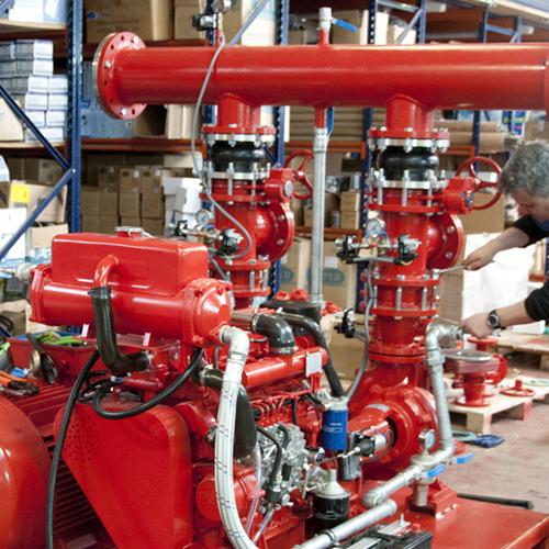 Montaje equipos contra incendios