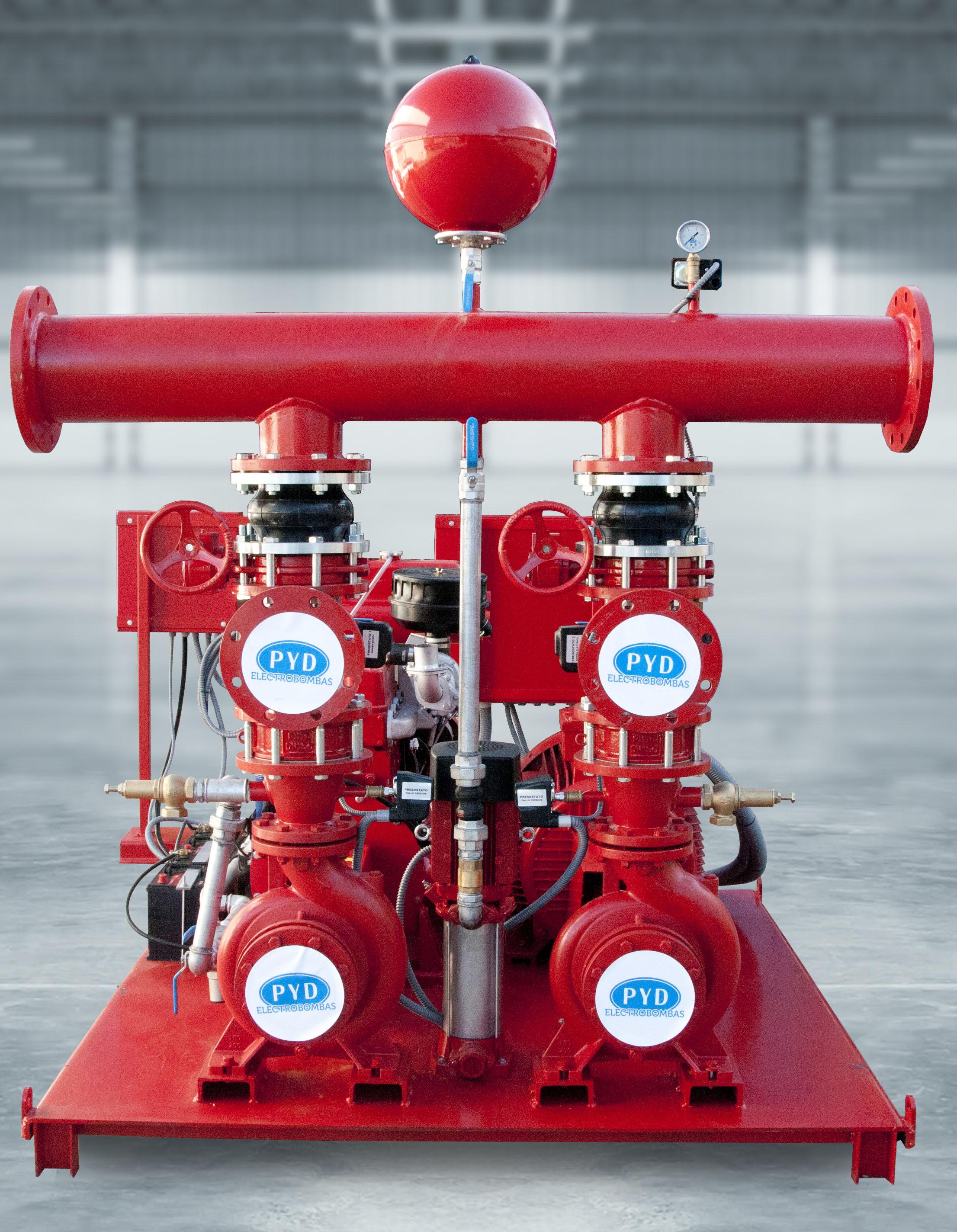 grupos contra incendios fuego Jockey electrica diesel - GCI UNE 2012 JED 23500