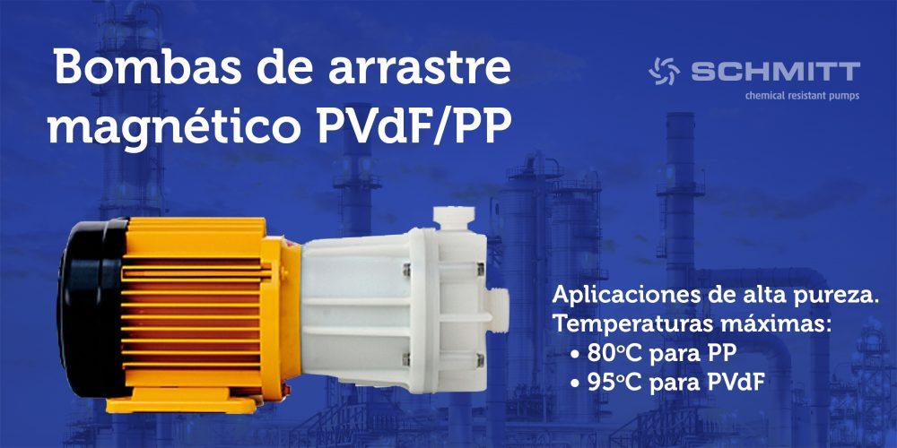bomba arrastre magnetico PVDF-PP