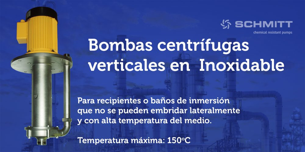 bombas centrifugas verticales Inoxidable