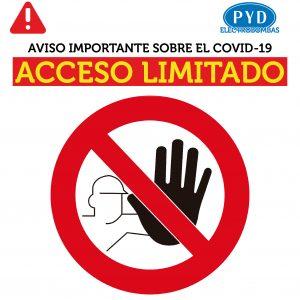 acceso limitado rrss 01 300x300 - Comunicado importante COVID-19