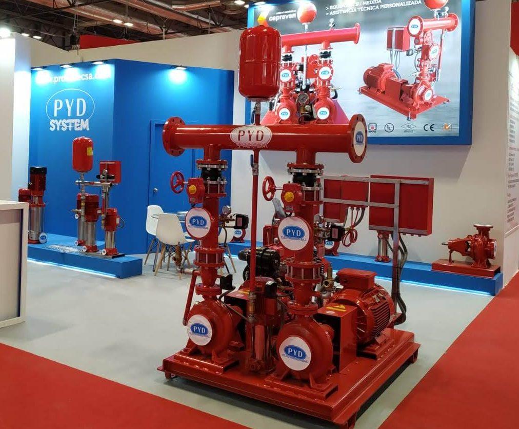 stand electrobombas contra incendios SICUR e1584098522111 - stand electrobombas contra incendios SICUR
